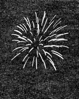 Moussa Kone: Feuerwerk 4, 32 x 25 cm, ink on paper, 2010